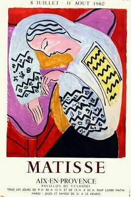 Vintage 1960 Matisse Provence Art Exhibition Poster Print A3/A4