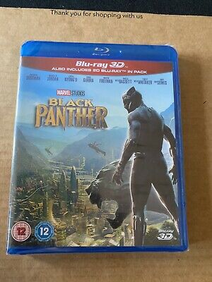 Black Panther 3D Blu-Ray New & Sealed Marvel Avengers
