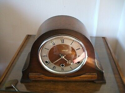 Anvil Perivale Vintage  Art Deco 8 Day Westminster Chime Mantle Clock V G C