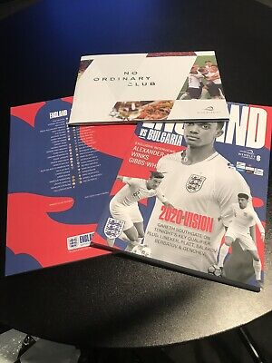 England Vs Bulgaria Euro 2020 Qualifier Programme with Club Folder 07/09/19