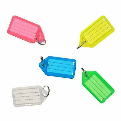 Click Tags Key Tags Keyrings Mix Colour Plastic Id Name Label 10 25 50 100 200