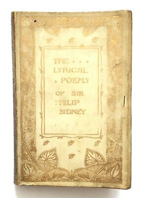 THE LYRICAL POEMS OF SIR PHILIP SIDNEY c.1895 Antique FULL LEATHER Poetry Book