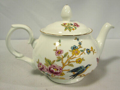 Duchess Two-Cup Mini Teapot Lid DUC51 Fine Bone China Red Floral Bird Butterfly