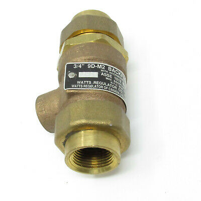 Watts 3/4 Inch Dual Check Valve w/ Intermediate Atmospheric Vent 0061888 9D-M2