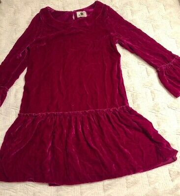 Peek Girls 'Anastasia' Crushed Velvet Dress Tunic Fushia  Pink  Size 2XL (12)