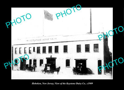 OLD LARGE HISTORIC PHOTO HOBOKEN NEW JERSEY, THE KEYSTONE DAIRY Co c1909
