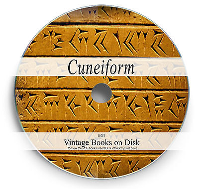 240 Rare Cuneiform Books on DVD Ancient Sumerian Babylonian Language Tablets 41