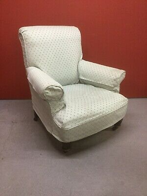 Antique Edwardian Upholstered Armchair Sn-996a