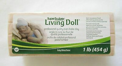 SUPER SCULPEY - LIVING DOLL - Polymer Clay - 454g - BABY Skin Colour Ivory