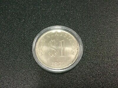 Foreign Coin - 1971 MALAYSIA $1 Ringgit Large Coin - aUnC