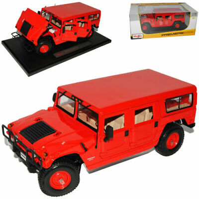 Hummer Humvee H1 Road Red SUV 1992-2006 1/18 Maisto Model Car with or Oh
