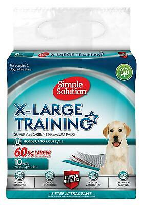 Simple Solution Premium Dog and Puppy Training Pads (Pack of 10) XL