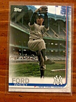 Whitey Ford 2019 Topps Series 2 Legend Variation #486 Ssp Yankees Mint
