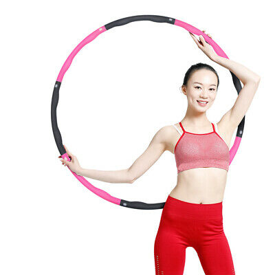 Collapsible 1KG Weighted Hula Hoop Fitness Exercise Gym Workout Hoola Women UK