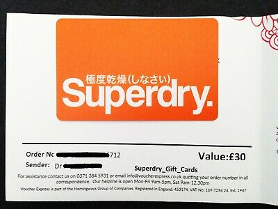 Superdry_Giftcard/Voucher_£30_Brand New!