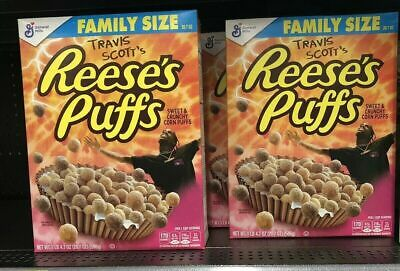 Travis Scott X Reeses Puffs Cereal Limited Edition Family Size