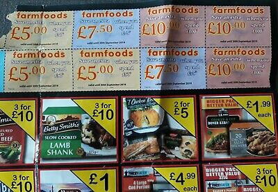 Farmfoods Coupons Vouchers. Valid until 30th SEPTEMBER 2019. Discount Worth £70