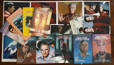 Job Lot: 9 Issues of Star Trek Official Fan Club Magazine & 19 Convention Photos