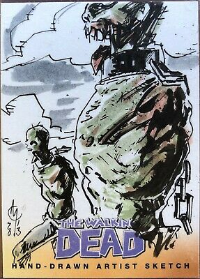 2013 Cryptozoic Walking Dead Comic Sketch Series 2 by Clayton McCormack 1/1