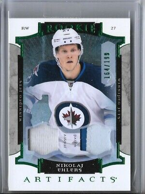2015-16 Upper Deck Artifacts Rookie Patch Emerald Nikolaj Ehlers /199