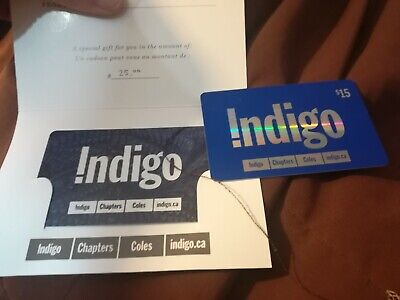Indigo Chapters Coles Gift Cards $40 CAD