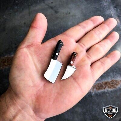 WORLDS SMALLEST WORKING FIXED BLADE KNIFE! Tiny Miniature CLEAVER Pocket Knife