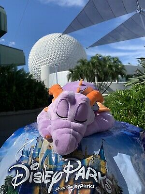 New NWT Disney EPCOT Figment Dragon Dream Friends Plush Sleeping SOLD OUT Sleepy