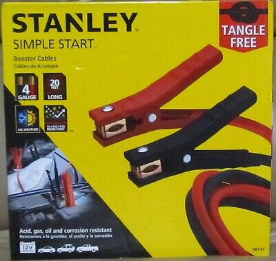 Stanley Simple Start Booster Cables...Tangle Free