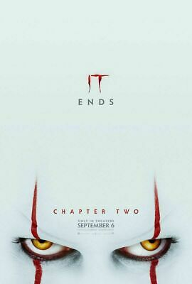 IT Chapter Two 'IT Ends'  2019 Movie Poster (shipped flat)