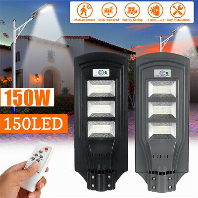 150W 150LED Solar Street Light PIR Motion Sensor Outdoor Garden Wall