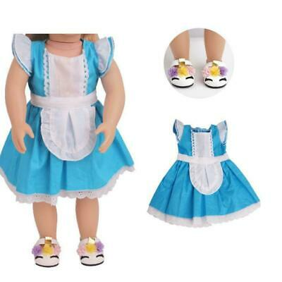 """Fits 18"""" inch Doll Girls Doll Handmade fashion Doll dress Clothes Outfit T6P6"""