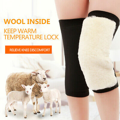 Unisex Sports Kneepads Winter Warm Wool Kneecap Guard Fitness Protection Pads