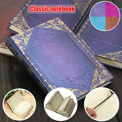 120p Retro Vintage Classic Golden Plaid Framed Notebook Diary Journal  !