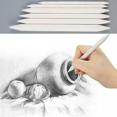 LOTS 6Pcs Blending Smudge Tortillon Stump Sketch 6 Sizes Art Drawing Tool Pastel