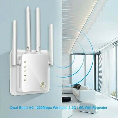 1200Mbps WiFi Repeater Extender Signal Booster Router Wireless New Range Network