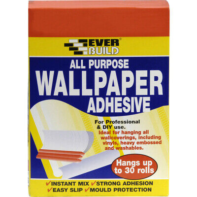 Everbuild All Purpose Wallpaper Paste 30 Roll DIY strong adhesion easy slip