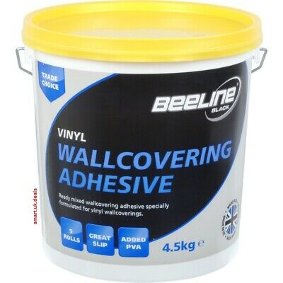 Beeline Ready Mixed Wallcovering Adhesive 4.5Kg Painting Decorating Wallpaperin