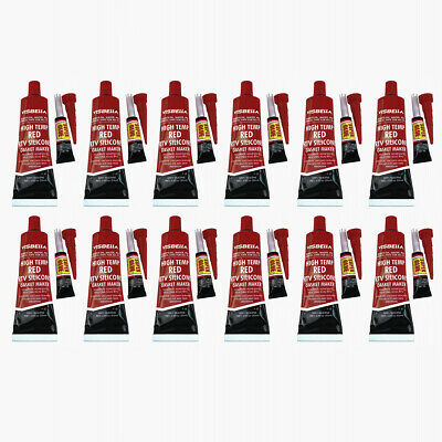 12X Red RTV Silicone Gasket Maker Sealant Adhesive 3.7 oz for Cylinder Head