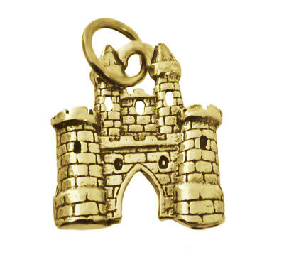 WOW New Magical Fairy Tale medieval 24K Gold Plated King Queen Castle Kingdom Ch