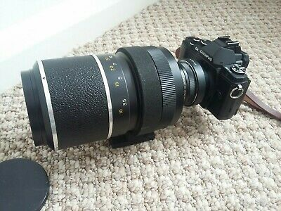 HANIMEX 500mm f/8 Mirror lens t mount +Pk &  M4/3 adaptor for micro 4/3 digitial