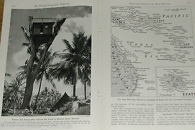 1944 magazine articles about NEW HEBRIDES, US Navy in the Pacific, Color photos