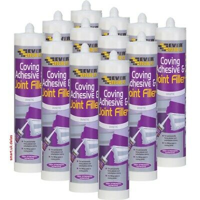 12x Everbuild Solvent Free Coving & Adhesive Filler 310ml DIY Adhesives Sealants