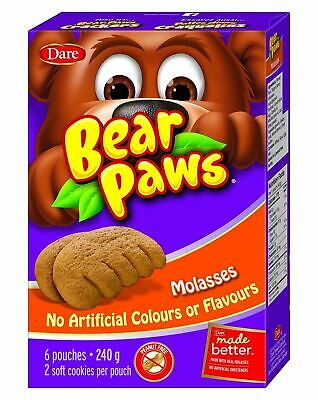 Dare Bear Paws Soft Molasses Cookies, 270g/9.5oz., {Imported from Canada}