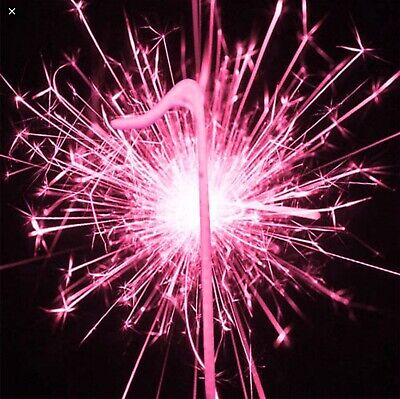 Unique Pink Sparkler Birthday Party Candle Cake Topper Number Numeral 0987654321