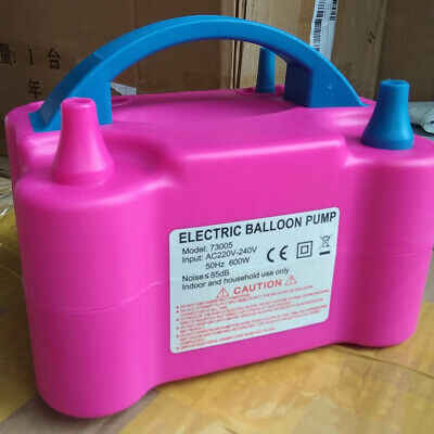 Air Balloon Pump 2 Nozzle Automatic Portable 600W Inflator Party Wedding