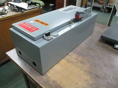Allen-Bradley Fusible Size 0 Combination 512-AAB-3-6P-24R 18A 600V 3Ph Used