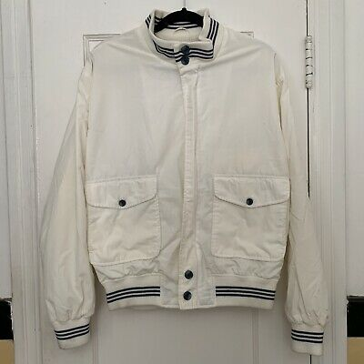 Vintage 1950s The Fox Collection Mens Full Zip White Jacket Medium 39-41