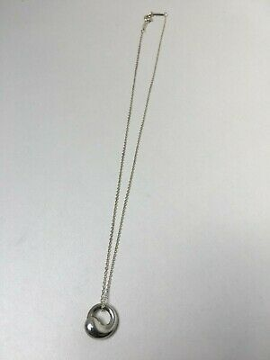 Tiffany & Co Silver Elsa Peretti Eternal Circle  Pendant Necklace