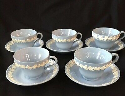 5 Sets - Cup and Saucer - Wedgwood Queensware
