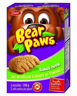 Dare Bear Paws, Baked Apple Soft Cookies, 270g/9.5oz., {Imported from Canada}